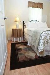 Flat Rock cottage photo - Bedroom #2 with double bed and big closet. Ceiling fan