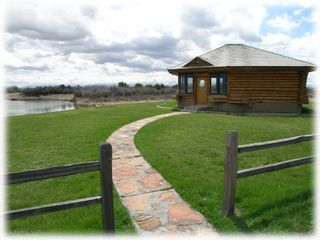Bozeman house photo - The gazebo with hot tub, sauna, and patio furniture is just a few steps from the house!