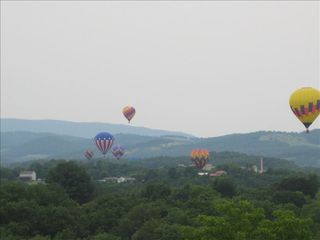 Lexington cabin photo - View from the deck of annual July 4th Ballon Festival