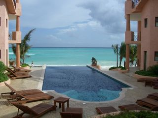 Playa del Carmen condo photo - Infinity beachside heated pool!
