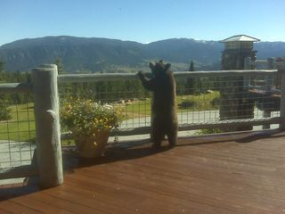 Big Sky lodge photo - Local Visitor on the Deck