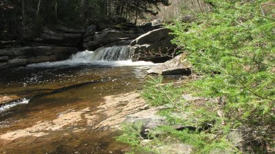 "Franconia house rental - ""Slippery Rock"" swimming hole, a short walk away from property."