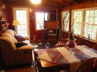 Harpers Ferry cabin photo - breakfast room; double recliner for snuggling while watching movies