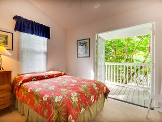 Key West house photo - The second bedroom has a queen bed and private porch.