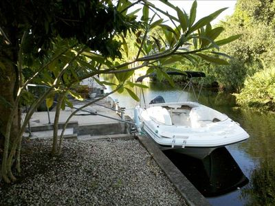 Boat in your back yard available for charter.