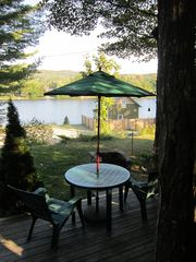 Jay Peak house photo - The gorgeous view of Lake Eden from our deck.