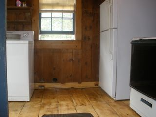 Dennis Village cottage photo - Kitchen with hardwood floors, new stove with oven, dishwasher & washer and dryer