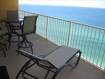 29 foot balcony overlooking the ocean.