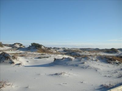 Spectacular White Sand Dunes with Boardwalks for Walking, Biking and Golf Carts