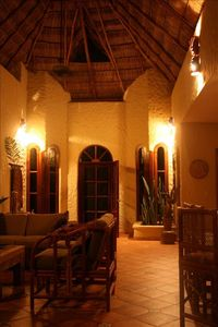Living Room with 20' palapa ceiling