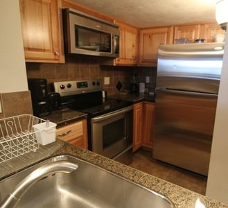 Fully equipped large modern kitchen. All Stainless steel appliances