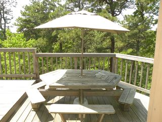 Deck picnic table - Wellfleet house vacation rental photo
