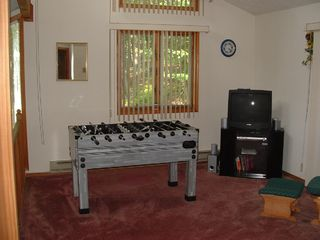 Bushkill house photo - Loft Area with TV, DVD VCR & Foosball Table