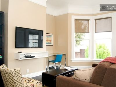 Living room with desk, high speed wireless, iPad loaded with tourist information
