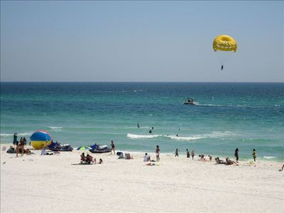 Jet ski, parasail and sun bath on the white sandy beach just a few steps away