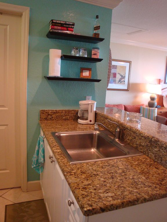 Granite counter tops and coffeemaker