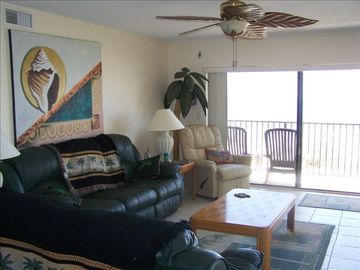 Cocoa Beach condo rental - Living Room Beautiful Ocean View