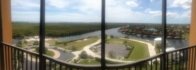 The panoramic view off our balcony