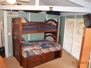 "Big Canoe chalet photo - Bed room #2. Twin over Full size bed plus sleeper sofa. 32"" flat Screen TV"