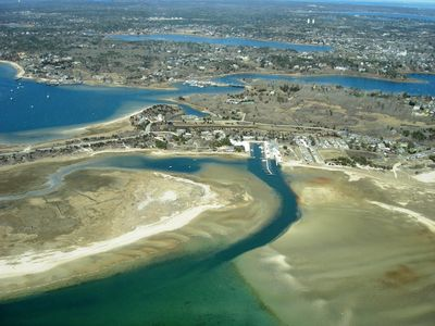 Aerial Photo of our Condo & Surrounding Area at Low Tide . . .