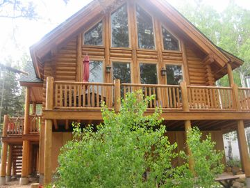 Markleeville cabin rental - Deck sits 20 feet from the beautiful Carson River