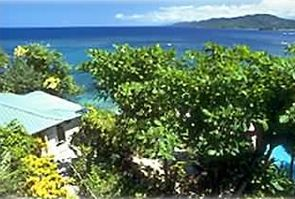 Overlooking Blue Harbour's Villa Chica and down the north coast of Jamaica