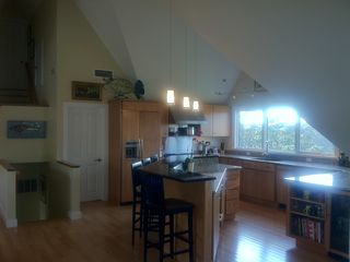 Wellfleet house photo - Beautiful sunsets off kitchen, large refrigerator, pantry and 1/2 bath