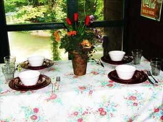 Pigeon Forge cabin photo - Waterfront dining on your private porch