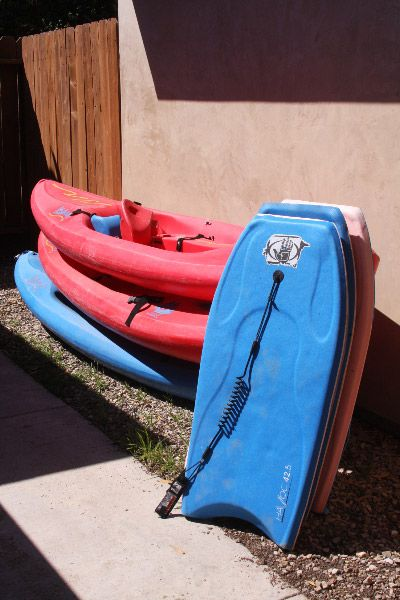 3 ocean kayaks and 4 foam boogie boards available for guest use