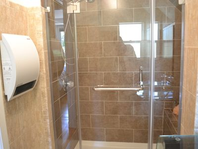 Remodeled and large shower
