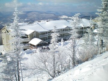 Snowshoe Mountain condo rental - Front View of Condo - Close to slopes and village but yet isolated and Privated