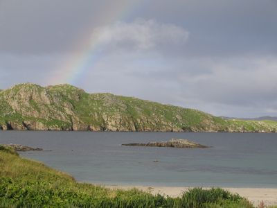 Beachfront holiday house in Valtos, Uig with stunning views.