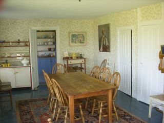 Vinalhaven farmhouse photo - dining room table seats 8