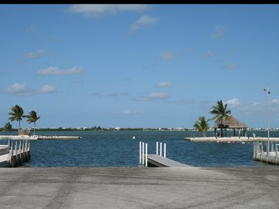 Two nice boat ramps at the marina