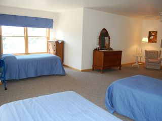 Port Sanilac house photo - looking out from twin beds - sitting area on right