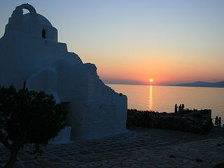 Mykonos villa photo - Mykonos sunset