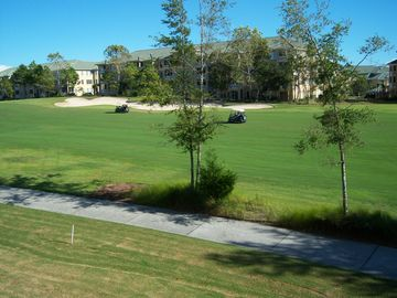 Windy Hill condo rental - golf course view from the balcony
