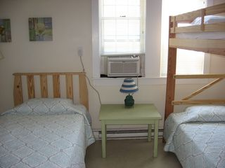 Harwich - Harwichport house photo - One of two bedrooms in the West Wing with newer organic twin beds.