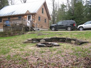 Burke house photo - cabin yard w/firepit