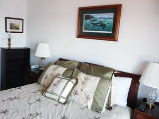 Catalina Island condo photo - Master Bedroom with Balcony and Ocean View