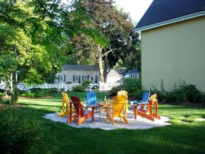 8 Muskoka chairs that are always in the sun