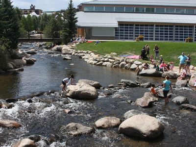 Riverwalk Center in downtown Breck is just five minutes away on the free shuttle