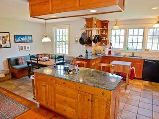Chilmark house photo - Breakfast Bar/Prep Island Offers Easy Casual Dining