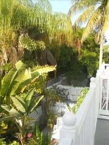 Key West condo rental - View of gorgeous & gated Truman Annex from Balcony.