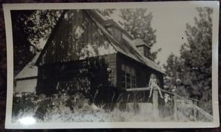 Lake Arrowhead cabin photo - Original 1920's historic picture of Cabin.