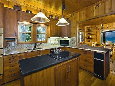 LAKE TAHOE LAKEFRONT HISTORIC ESTATE - 'TWIN PINES' - Main House Kitchen