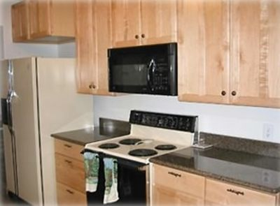 One part of kitchen - granite countertops