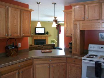 Boyne City house rental - Kitchen w/pass-through