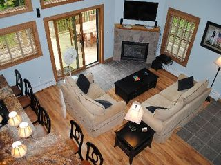 Wilmington chalet photo - Fireplace, flat screen TV, comfy couches, all the amenities needed to relax!