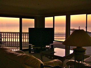 Pacific Beach condo photo - ONE OF MANY SUNSET VIEWS FROM LIVING ROOM.
